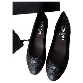 Chanel-Flats Chanel-Black
