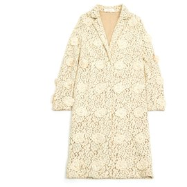 Chloé-SPRING FLOWER COAT FR38/40-Cream