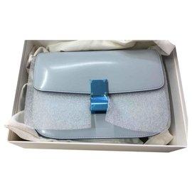 Céline-CELINE CLASSIC BOX MEDIUM SAC BAG NEW NEVER WORN IT-Blue