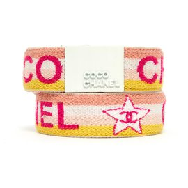 Chanel-BELT T80 AND CUFF SPRING COLORS-Blanc,Multicolore