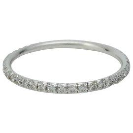 """Tiffany & Co-Bague Tiffany & Co.,""""Métro"""", or blanc et diamants.-Autre"""