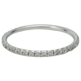 "Tiffany & Co-Tiffany & Co ring.,""Metro"", white gold and diamonds.-Other"
