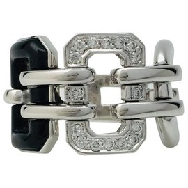 "Chanel-Chanel ring ""Première"" in white gold, diamonds and onyx.-Other"
