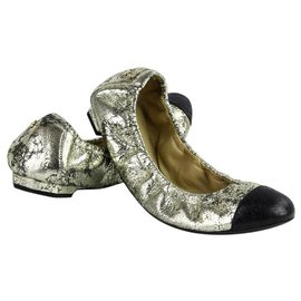 Chanel-Ballet flats-Golden
