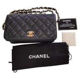 Chanel-Chanel timeless shoulder bag new shoulder strap-Black