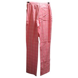 Burberry-Burberry size UK women's trousers 8 nine label size 36-Pink