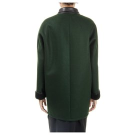 Balenciaga-Manteau Balenciaga tout neuf-Vert foncé