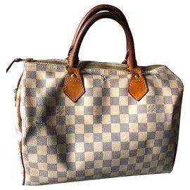 Louis Vuitton-Speedy 30 checkerboard-Eggshell