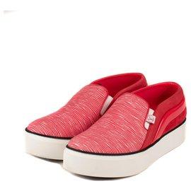 "Louis Vuitton-Sneakers femme Louis Vuitton modèle ""Catwalk sneaker"" couleur framboise , taille 39, 5 quasi-neuf !-Fuschia"