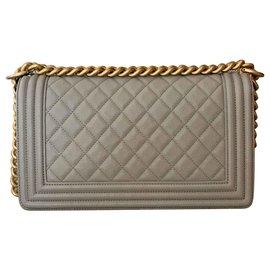 Chanel-Medium Le Boy Flap Bag-Grey
