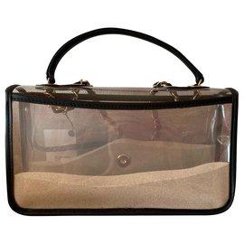 Chanel-Sac à rabat en PVC Coco Sand-Noir