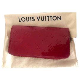 Louis Vuitton-LV Vernis Zippy Wallet-Red
