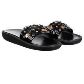"""Louis Vuitton-Louis Vuitton Sandals """"Sunbath Flat Mule"""", taille 39, new condition!-Black"""