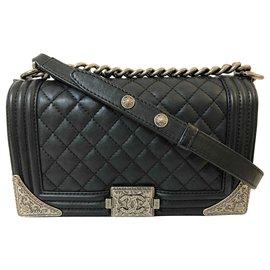 Chanel-Boy Chanel Medium Quilted Flap Bag-Black