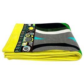 Emilio Pucci-Serviette de plage en coton imprimé-Multicolore
