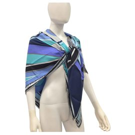 Emilio Pucci-Extra large printed silk foulard-Multiple colors