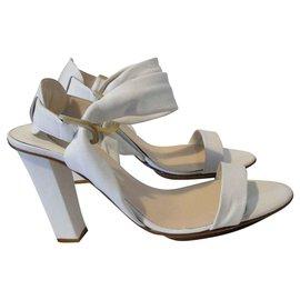 Nicholas Kirkwood-Leather sandals-White