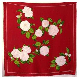 Chanel-CHANEL carré de soie-Rouge