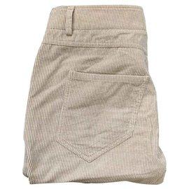Brunello Cucinelli-Pantalons, leggings-Beige