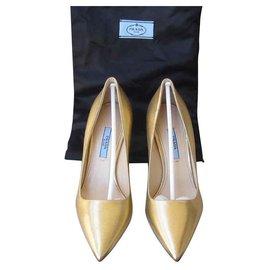 Prada-Heels-Golden
