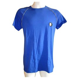 John Galliano-JOHN GALLIANO BALTIC BLUE T-SHIRT-Blau