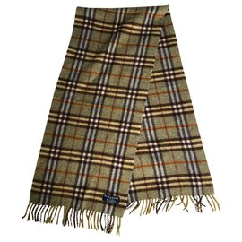 Burberry-Burberry cashmere scarf-Brown,Beige