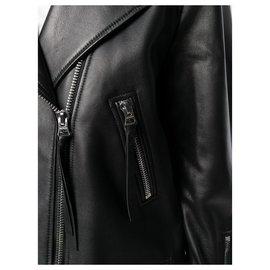 Acne-Veste cuir Myrtle-Noir