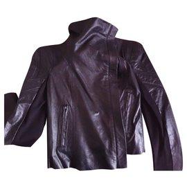 Bcbg Max Azria-BCBG Max Azria black leather jacket-Black