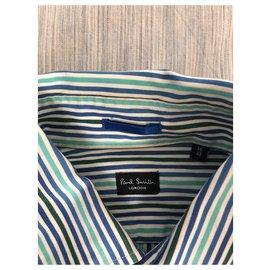 Paul Smith-Chemise Paul Smith-Blanc,Bleu,Vert