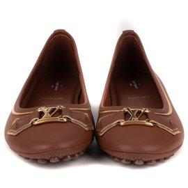 "Louis Vuitton-Louis Vuitton ""Oxford Flat"" ballerinas brown , taille 41, new condition!-Brown"