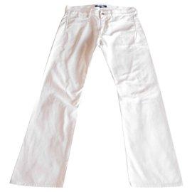 Junya Watanabe-Junya Watanabe Man Buckle Denim Pantalon-Blanc