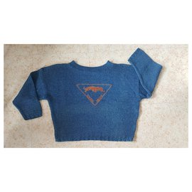 Krizia-Knitwear-Blue,Orange