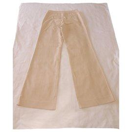 Issey Miyake-Issey Miyake trousers-Beige