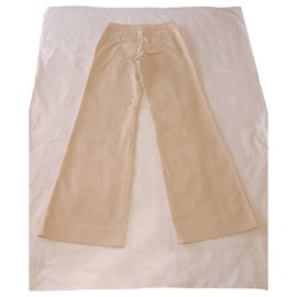 Issey Miyake-Pantalon Issey Miyake-Beige