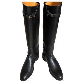 Hermès-Bottes jumping-Noir