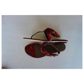 Gucci-Sandals-Dark red