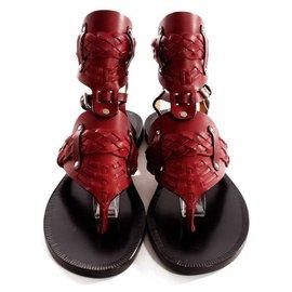 Isabel Marant-Sandals-Dark red