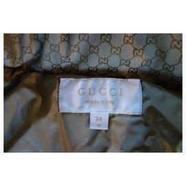 Gucci-Manteau gucci-Marron foncé