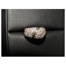 inconnue-Jonc en or Pavage Diamants 1 carat TDD 53-Argenté,Doré