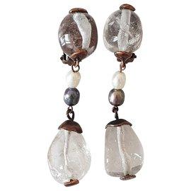 Yves Saint Laurent-Yves saint Laurent bucles d'oreilles cristal vintage-Autre