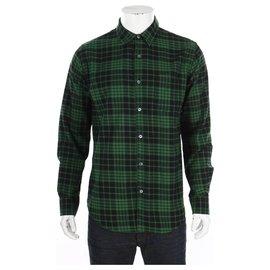 Autre Marque-chemises-Noir,Vert