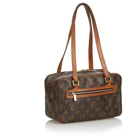Louis Vuitton-Louis Vuitton Brown Monogram Cite MM-Marron