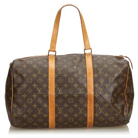 Louis Vuitton-Louis Vuitton Monogramme Sac Souple Marron 45-Marron