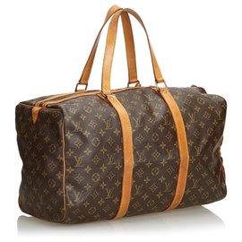 Louis Vuitton-Louis Vuitton Brown Monogram Sac Souple 45-Brown