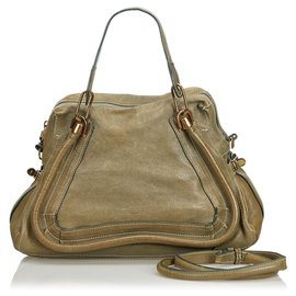 Chloé-Chloe Brown Leather Paraty Satchel-Brown