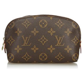 Louis Vuitton-Trousse à maquillage monogramme Louis Vuitton Brown-Marron