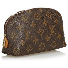 Louis Vuitton-Louis Vuitton Brown Monogram Cosmetic Case-Brown