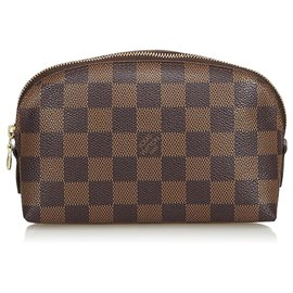 Louis Vuitton-Louis Vuitton Pochette Cosmétique Damier Ebène Marron-Marron