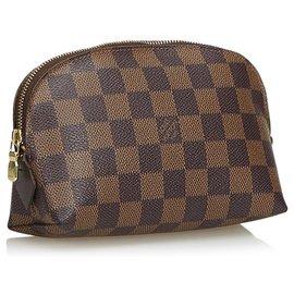 Louis Vuitton-Louis Vuitton Brown Damier Ebene Cosmetic Pouch-Brown