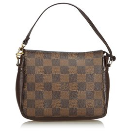 Louis Vuitton-Louis Vuitton Brown Damier Ebene Trousse Pochette-Brown
